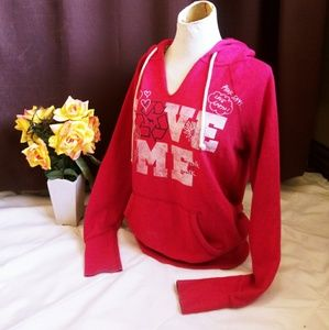 PINK Victoria's Secret RECYCLING EARTH sweatshirt